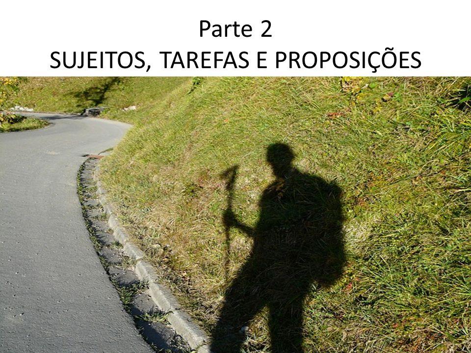 Parte 2 SUJEITOS, TAREFAS E PROPOSIÇÕES