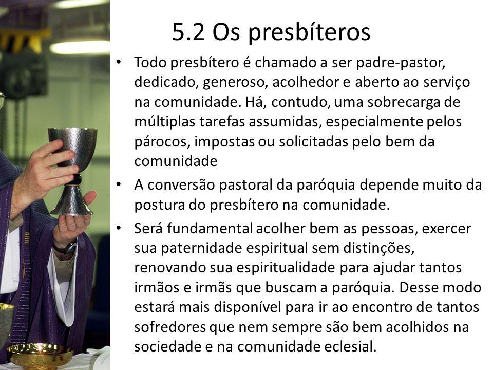 5.2 Os presbíteros