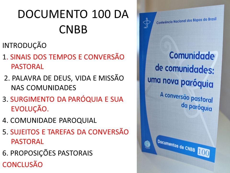DOCUMENTO 100 DA CNBB INTRODUÇÃO