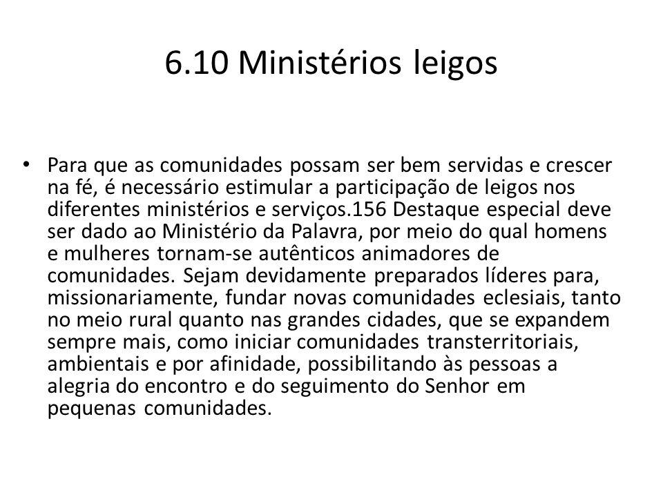 6.10 Ministérios leigos