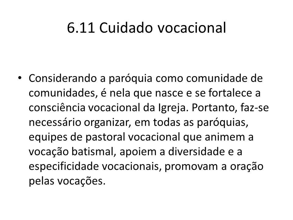 6.11 Cuidado vocacional