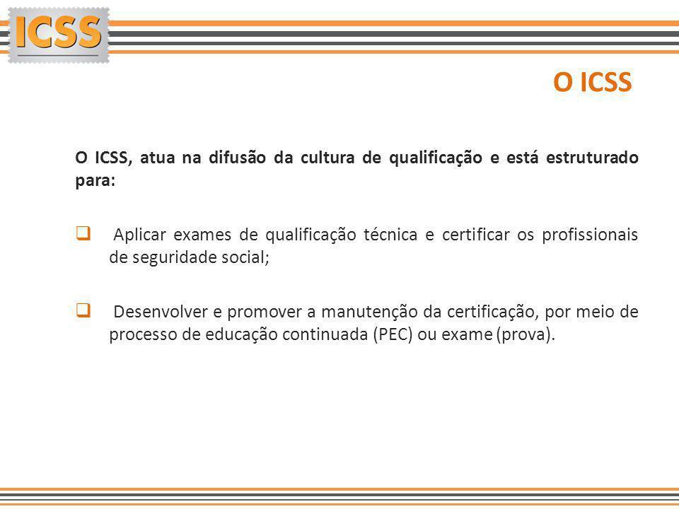 O ICSS O ICSS, atua na difusão da cultura de qualificação e está estruturado para:
