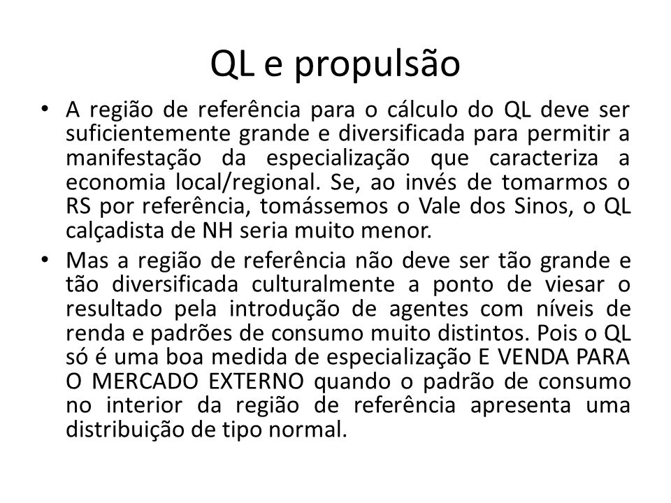 QL e propulsão