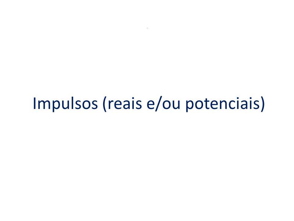 Impulsos (reais e/ou potenciais)