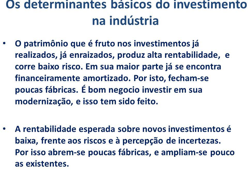 Os determinantes básicos do investimento na indústria