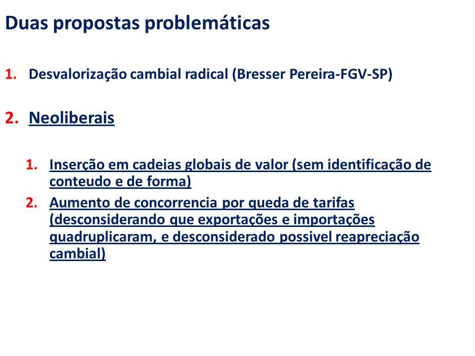 Duas propostas problemáticas