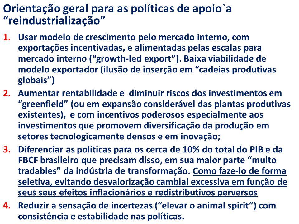 Orientação geral para as políticas de apoio`a reindustrialização