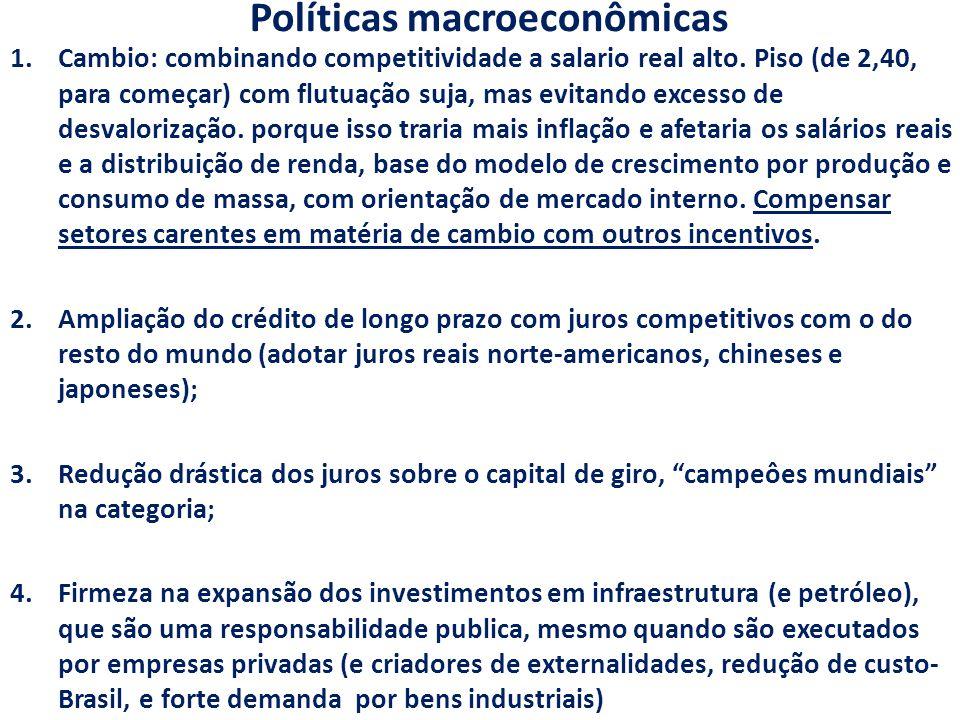 Políticas macroeconômicas