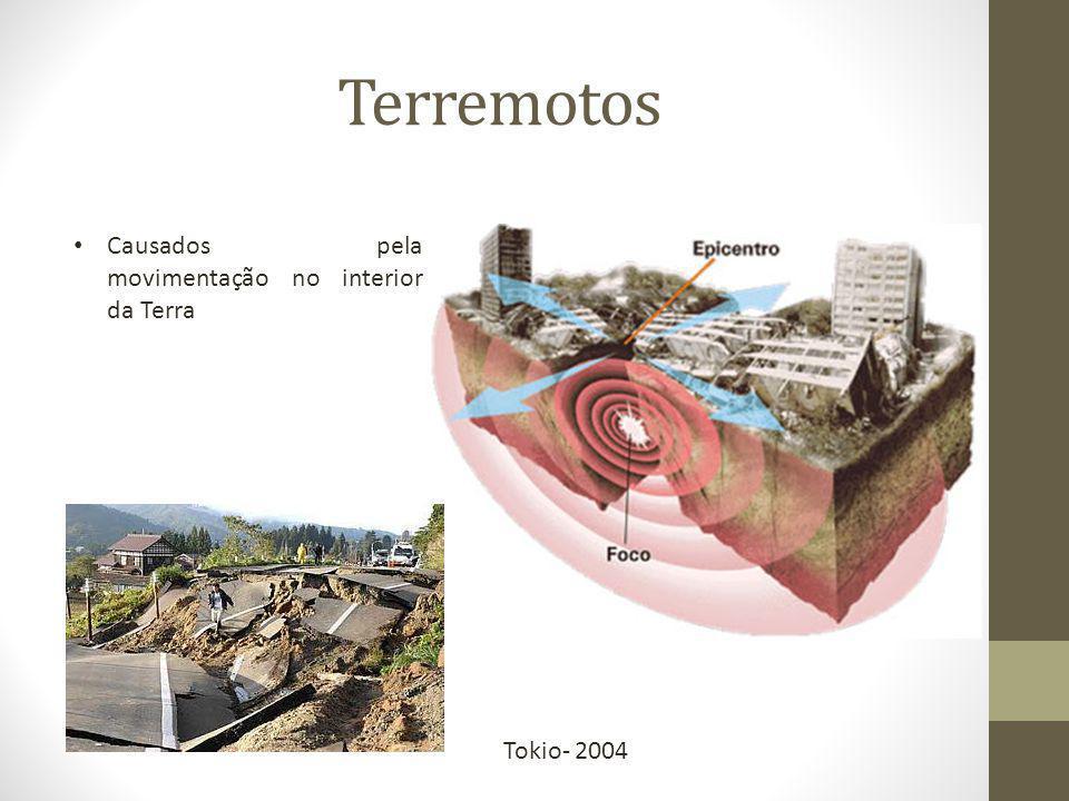Terremotos Causados pela movimentação no interior da Terra Tokio- 2004