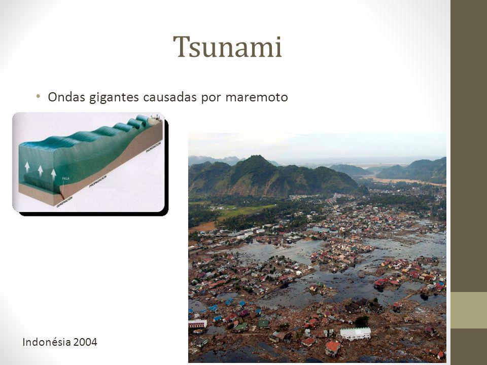 Tsunami Ondas gigantes causadas por maremoto Indonésia 2004