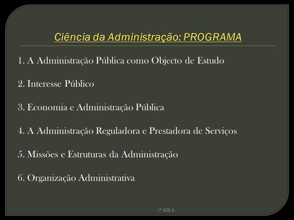 Ciência da Administração: PROGRAMA