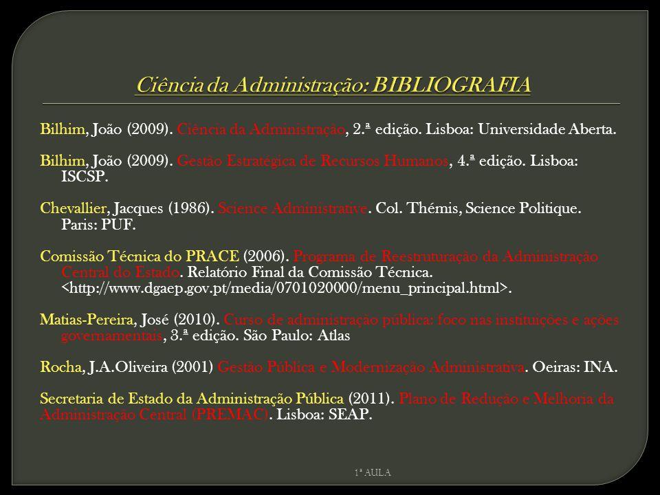 Ciência da Administração: BIBLIOGRAFIA