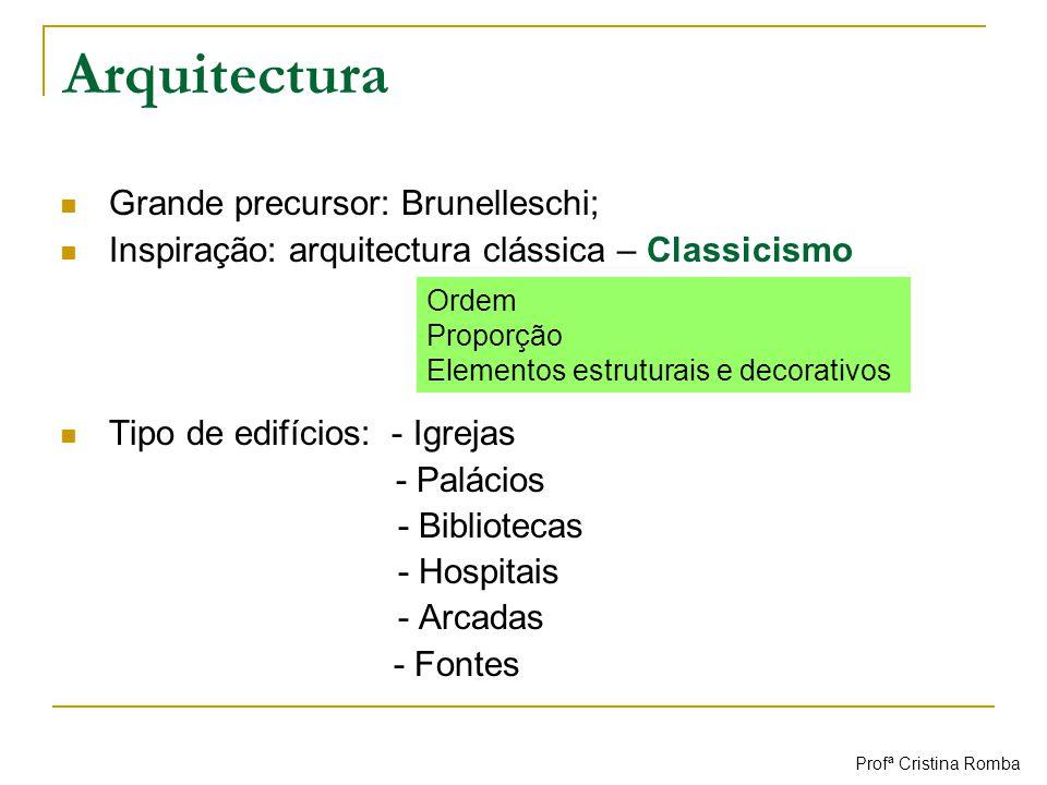 Arquitectura Grande precursor: Brunelleschi;