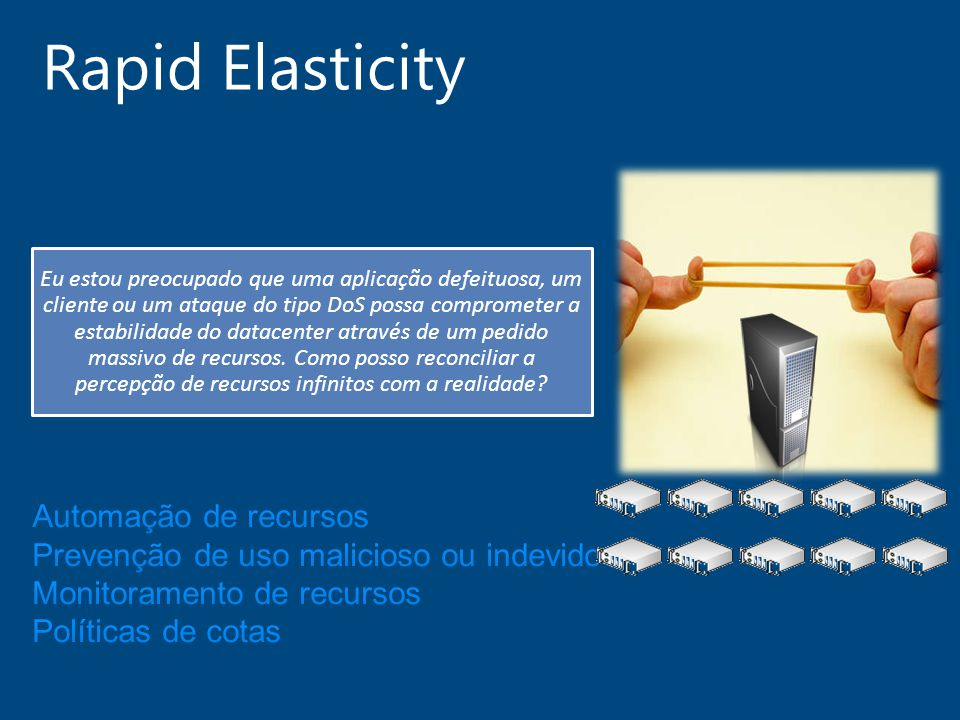 Rapid Elasticity Automação de recursos