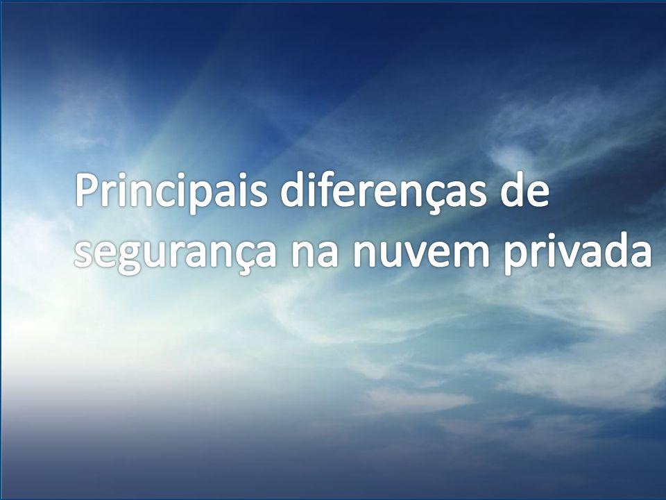 Principais diferenças de segurança na nuvem privada