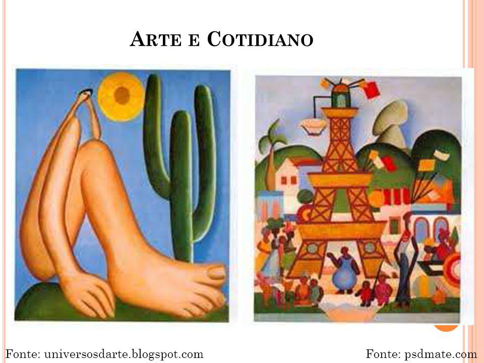Arte e Cotidiano Fonte: universosdarte.blogspot.com Fonte: psdmate.com