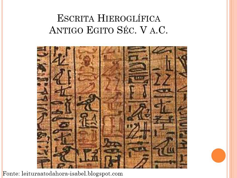 Escrita Hieroglífica Antigo Egito Séc. V a.C.