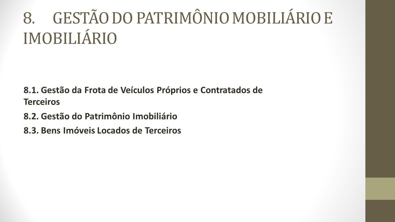 8. GESTÃO DO PATRIMÔNIO MOBILIÁRIO E IMOBILIÁRIO