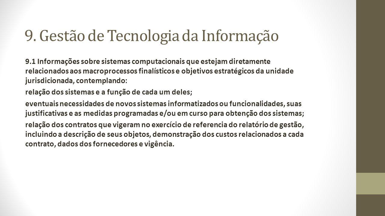 9. Gestão de Tecnologia da Informação