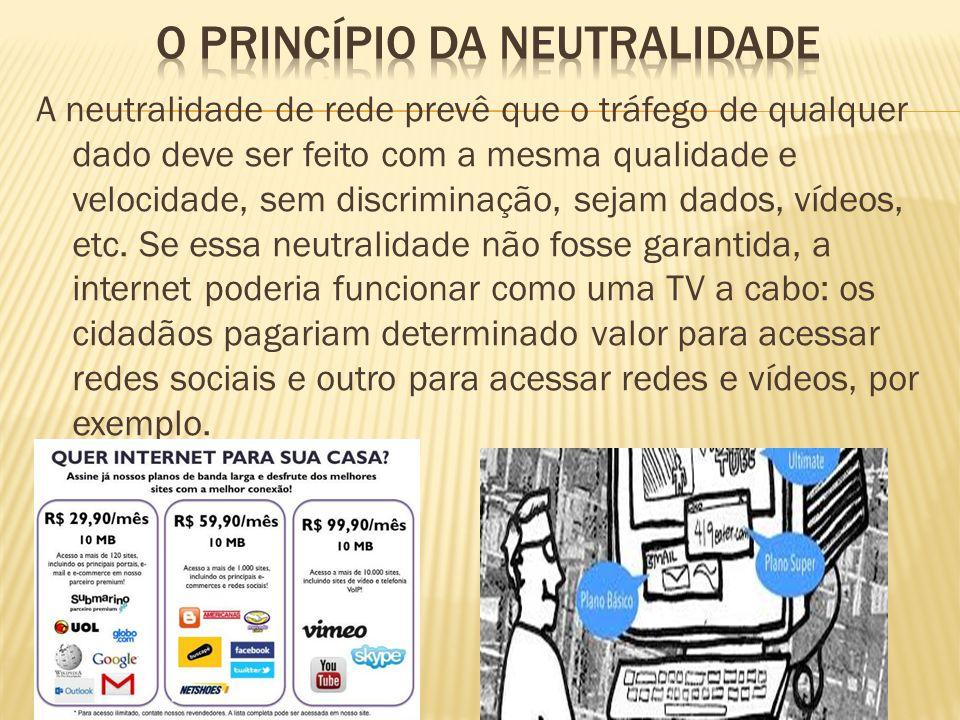 O princípio da neutralidade