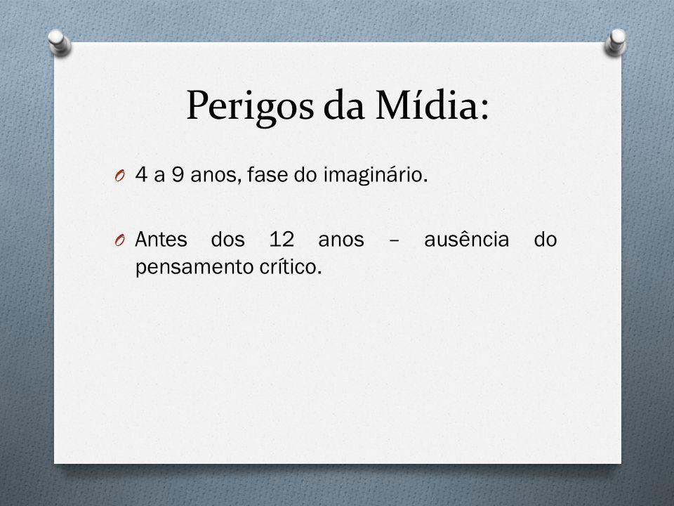 Perigos da Mídia: 4 a 9 anos, fase do imaginário.