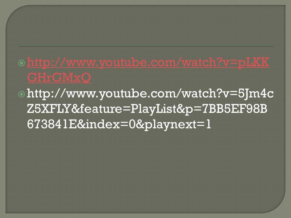 http://www.youtube.com/watch v=pLKKGHrGMxQ http://www.youtube.com/watch v=5Jm4cZ5XFLY&feature=PlayList&p=7BB5EF98B673841E&index=0&playnext=1.