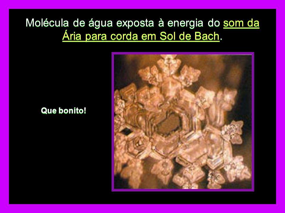 Molécula de água exposta à energia do som da Ária para corda em Sol de Bach.