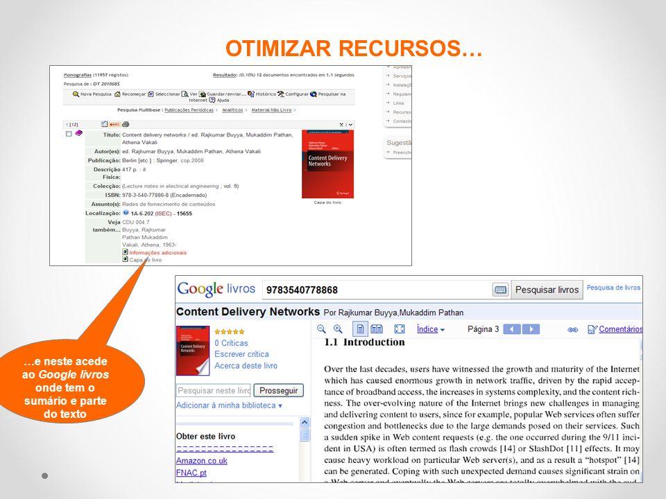 …e neste acede ao Google livros onde tem o sumário e parte do texto