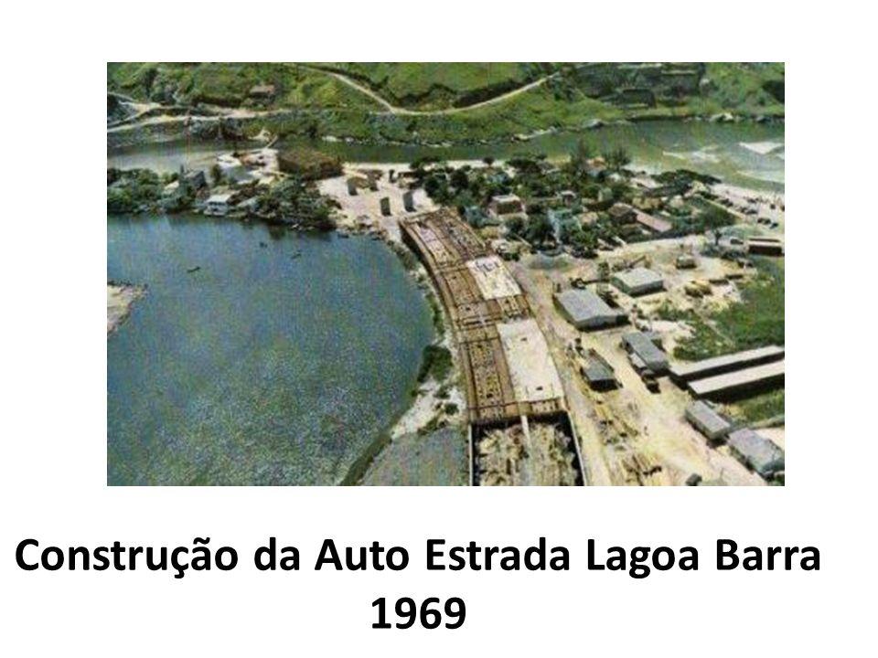 Construção da Auto Estrada Lagoa Barra 1969