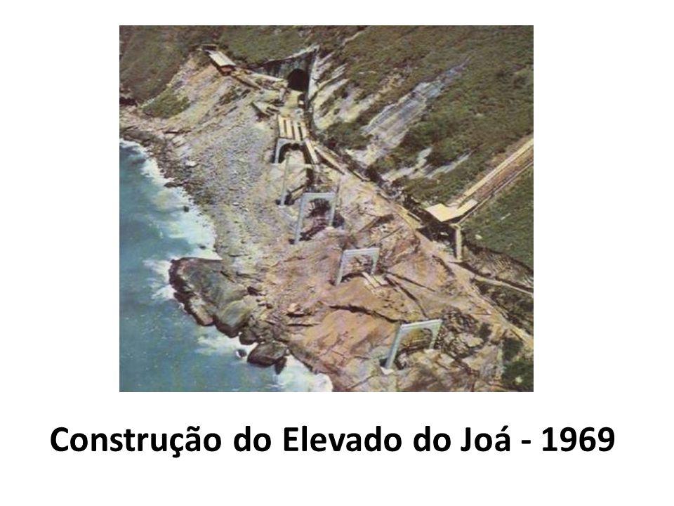 Construção do Elevado do Joá - 1969