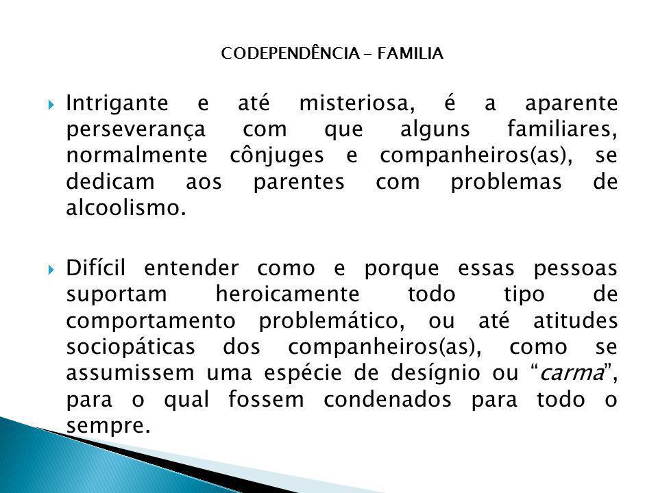 CODEPENDÊNCIA - FAMILIA