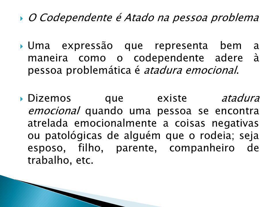 O Codependente é Atado na pessoa problema