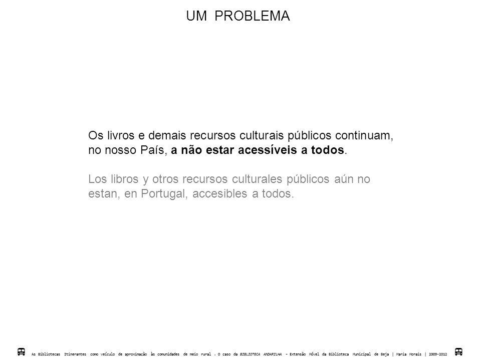 UM PROBLEMA Os livros e demais recursos culturais públicos continuam,