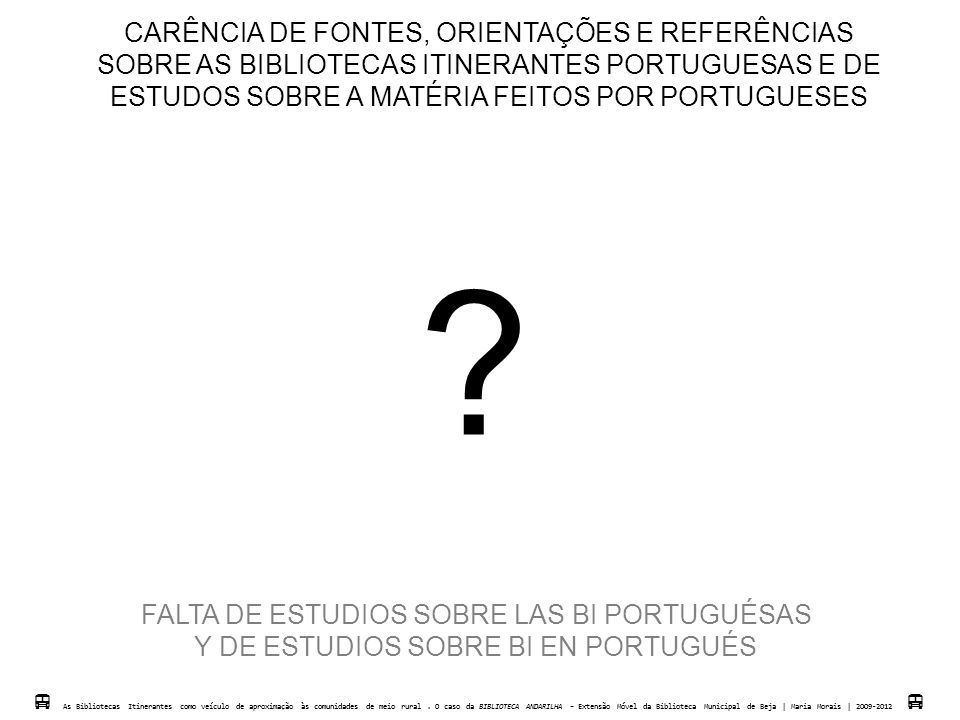 CARÊNCIA DE FONTES, ORIENTAÇÕES E REFERÊNCIAS