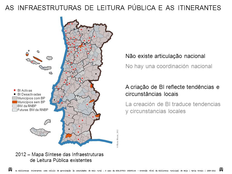 AS INFRAESTRUTURAS DE LEITURA PÚBLICA E AS ITINERANTES