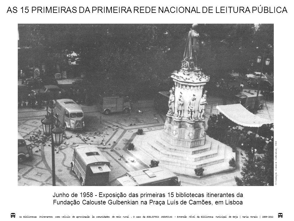 AS 15 PRIMEIRAS DA PRIMEIRA REDE NACIONAL DE LEITURA PÚBLICA