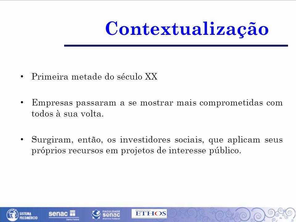 Contextualização Primeira metade do século XX