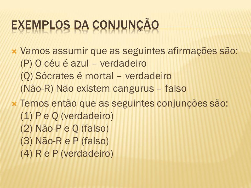 Exemplos da conjunção