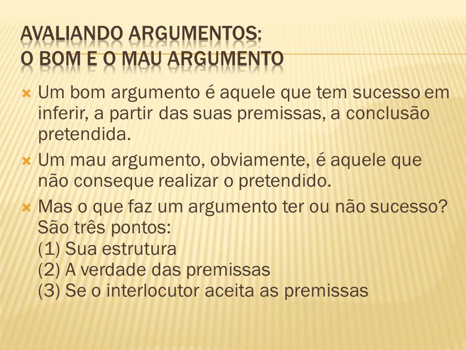 Avaliando argumentos: O bom e o mau argumento