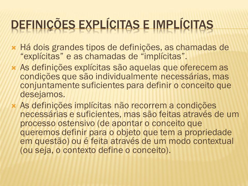Definições explícitas e implícitas