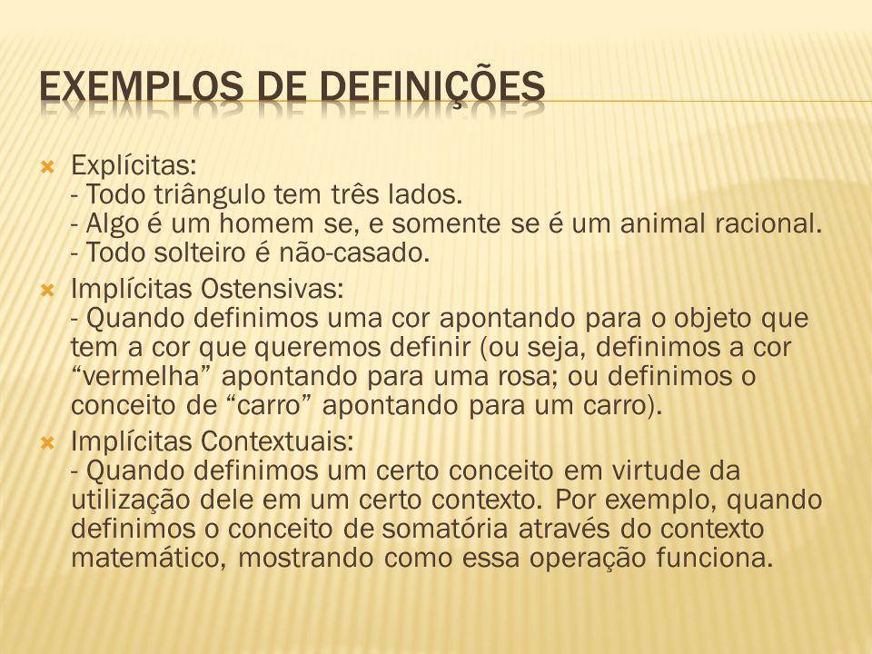 Exemplos de definições