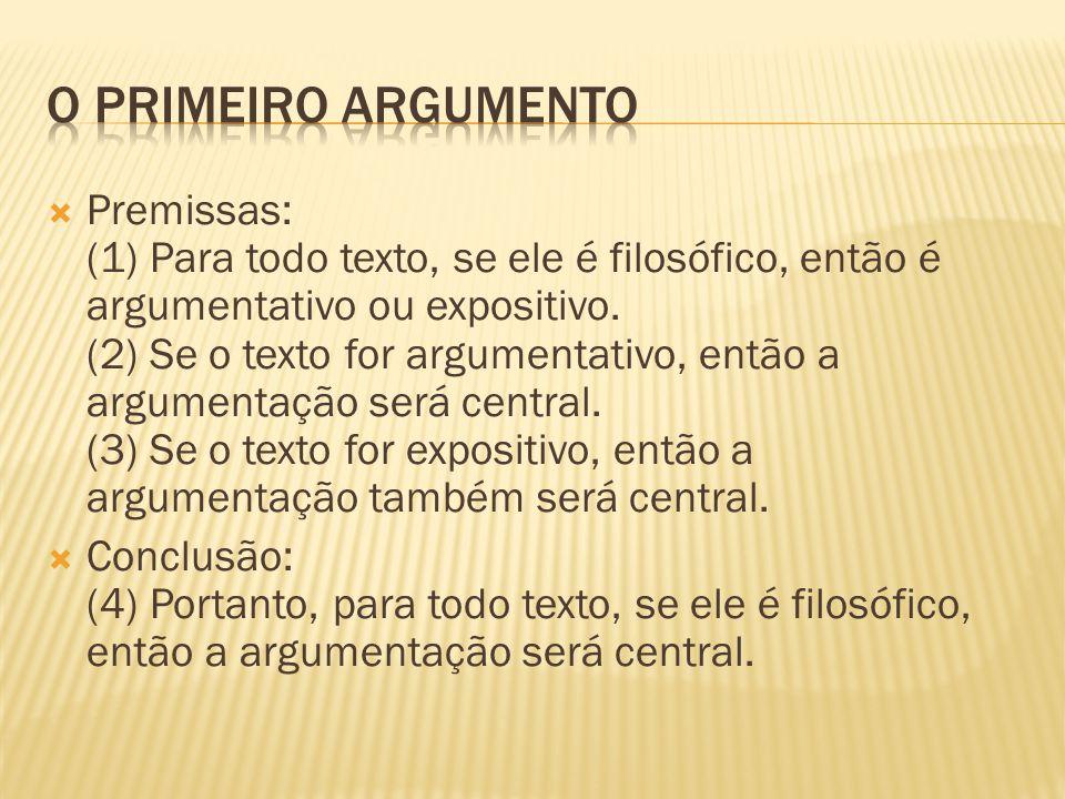 O primeiro argumento