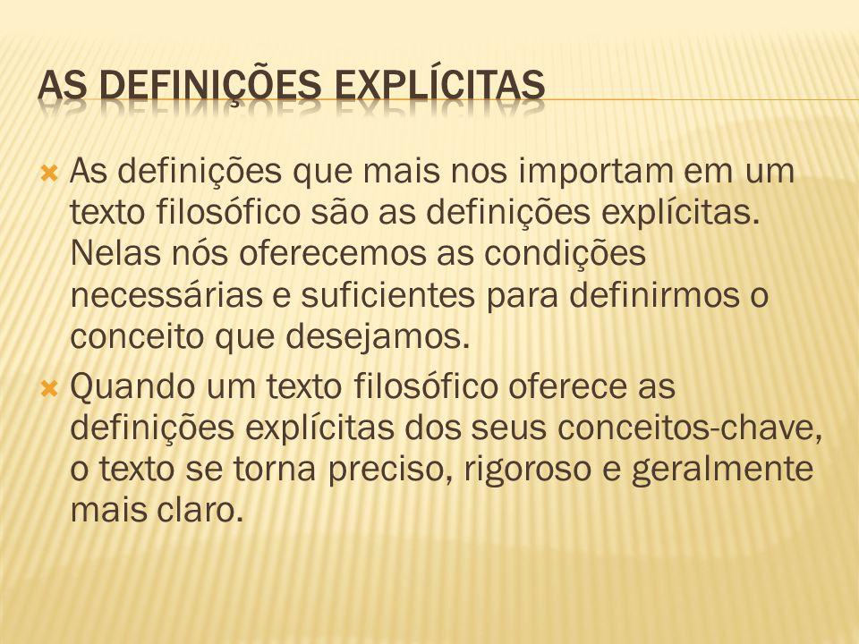 As definições explícitas