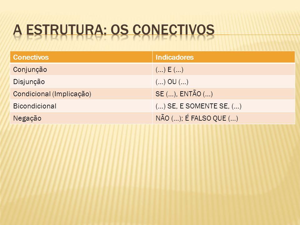 A estrutura: os conectivos