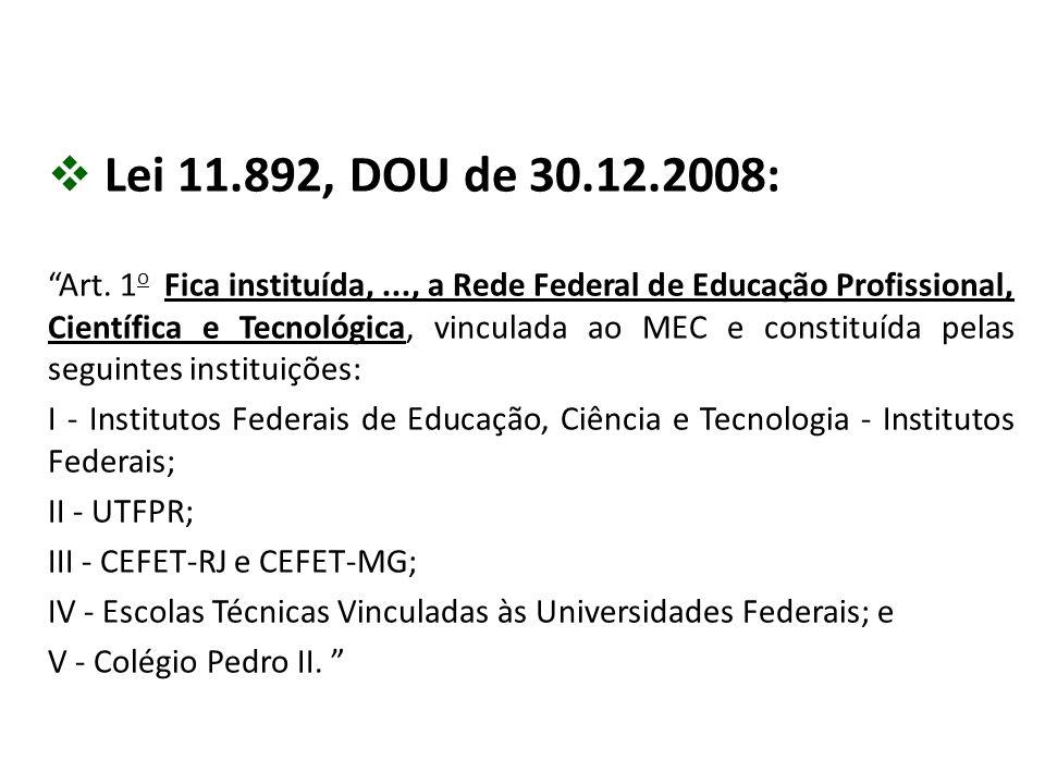 Lei 11.892, DOU de 30.12.2008: