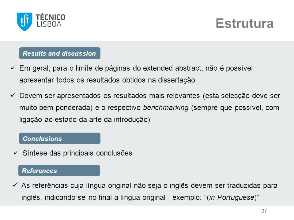 Estrutura Results and discussion.