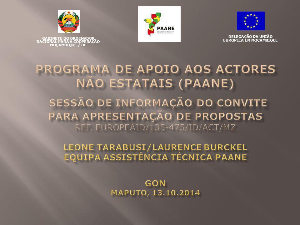 GABINETE DO ORDENADOR NACIONAL PARA A COOPERAÇÃO MOÇAMBIQUE / UE