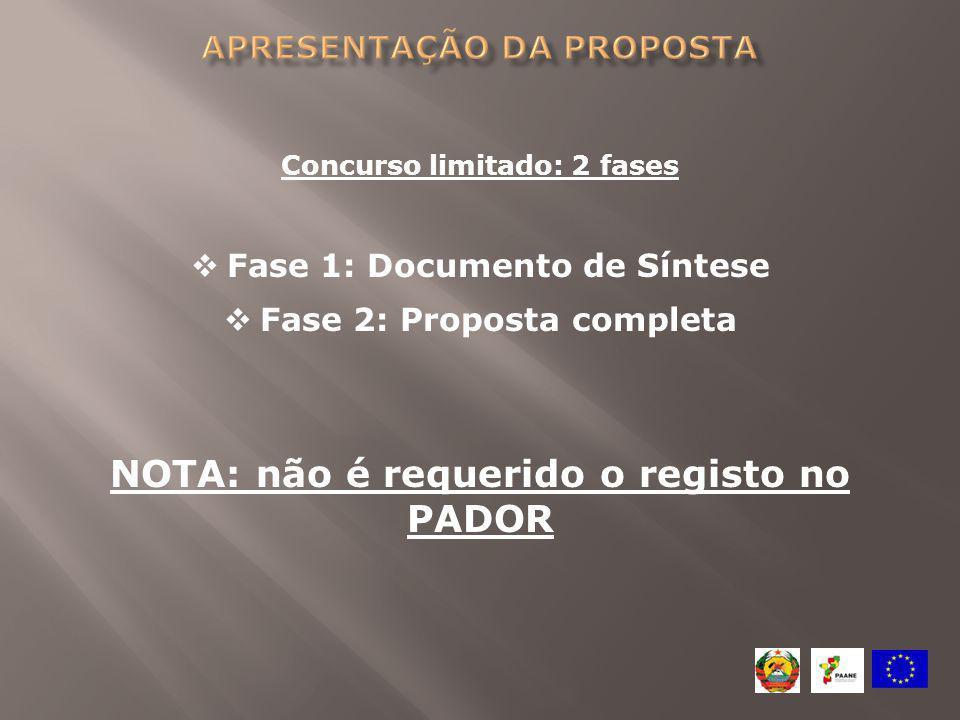apresentação da proposta