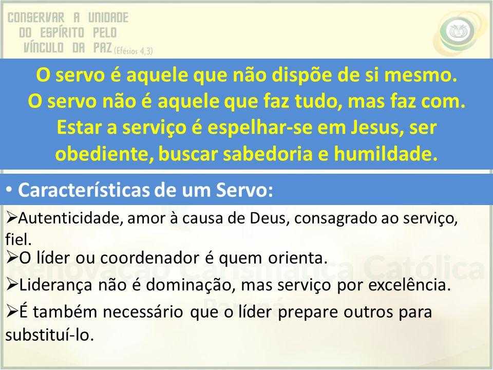 Características de um Servo: