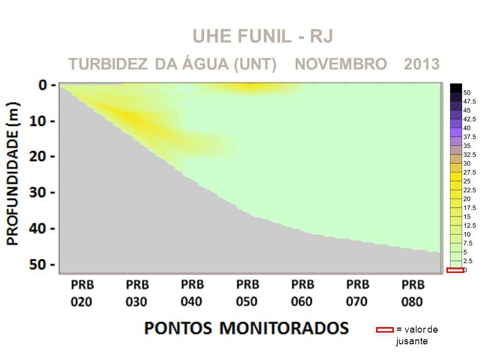 UHE FUNIL - RJ TURBIDEZ DA ÁGUA (UNT) NOVEMBRO 2013 = valor de jusante